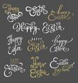 easter lettering emblems vector image