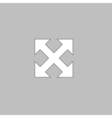 Enlarge computer symbol vector image vector image