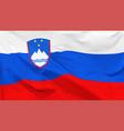 flag slovenia vector image vector image