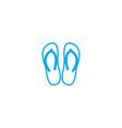 flip flops thin line stroke icon flip vector image