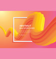 fluid abstract curve design on gradient vector image vector image
