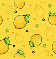 fresh lemon seamless pattern image vector image