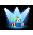 Gift boxes with spotlights vector | Price: 1 Credit (USD $1)