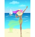 Girl at the sea vector image