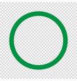 green circle icon vector image vector image
