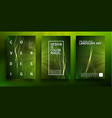 green technology background futuristic vector image