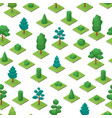 green trees park seamless pattern background 3d vector image