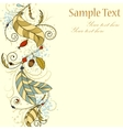 Greeting card wit feathers and beads vector image vector image