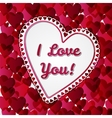 Greeting Valentines days card with hearts vector image