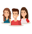 group of young people avatars vector image vector image