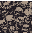 grunge skull seamless 2 vector image vector image