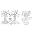 haired shap tree vector image