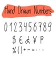 Handwritten simple numerals set vector image vector image