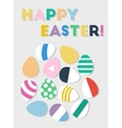 Happy Easter eggs postcard vector image