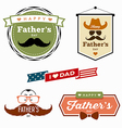 Happy Fathers day colorful labels logo vector image
