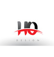 ho h o brush logo letters with red and black vector image vector image