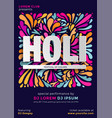 indian festival color holi party poster vector image vector image