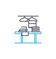 ironing clothes linear icon concept ironing vector image