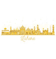 lahore pakistan city skyline golden silhouette