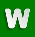 letter w sign design template element vector image