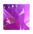 Light Medium Orchid Purple Abstract Low Polygon vector image vector image