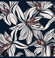 lily hand drawn flower background digital vector image