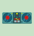 live dj set turntable graphic vector image vector image