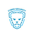 logo cyber security security agency sign shield vector image