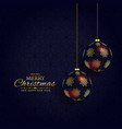 luxury dark christmas festival background design vector image vector image