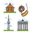 monuments and hot dogs vector image
