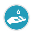 new normal hand disinfection after coronavirus vector image vector image