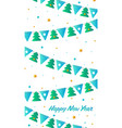 new years card colorful flags and bunting vector image