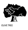 olive tree icon simple style vector image
