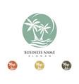 palm tree summer logo vector image