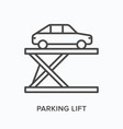 parking lift flat line icon outline vector image