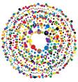 random circles dots abstract element circular vector image vector image