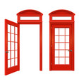 red english telephone booth set vector image vector image