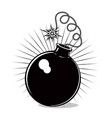 retro bomb on isolated background black and white vector image
