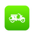 scooter icon digital green vector image