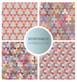 Seamless Gradient Color Pattern Collection vector image vector image