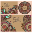 set of floral decorative background vector image