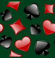 simbols of playing card seamless pattern vector image vector image
