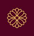 simple geometric linear flower logo vector image