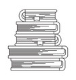 sketch silhouette of stack of books with bookmark vector image vector image