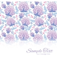 soft purple flowers horizontal border card vector image vector image
