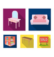soft sofa toilet make-up table dining table vector image vector image