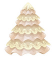 stylized christmas tree made of fabric and lace vector image