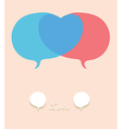 Talk abount in love vector image vector image