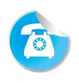 telephone service sticker icon vector image