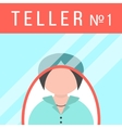 teller behind window vector image
